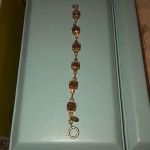 Catherine Popesco Swarovski Crystal Gold Bracelet